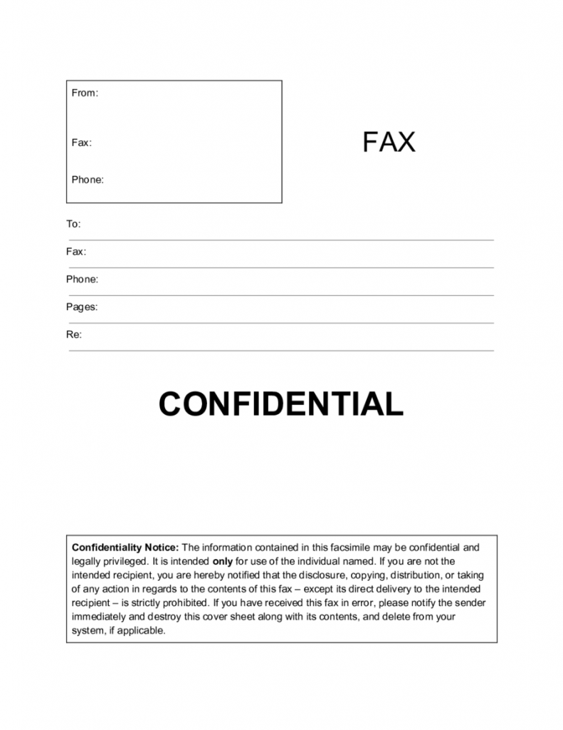 2020 Fax Cover Sheet Template Fillable Printable PDF