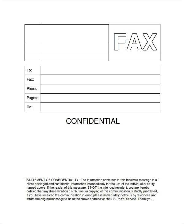 FREE 8 Sample Generic Fax Cover Sheet Templates In PDF