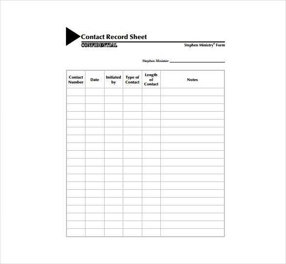 Contact Sheet Template 17 Free Excel Documents Download