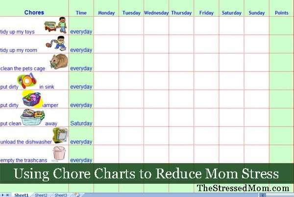 FREE Excel Chore Chart Template TheStressedMom