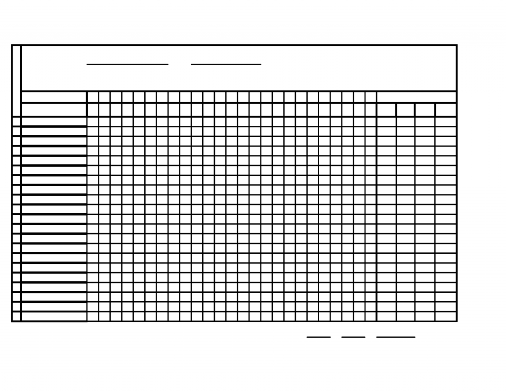 Monthly Attendance Sheet Free Download