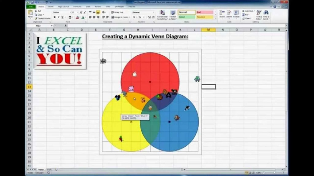 How To REALLY Make A Venn Diagram Chart In Excel YouTube