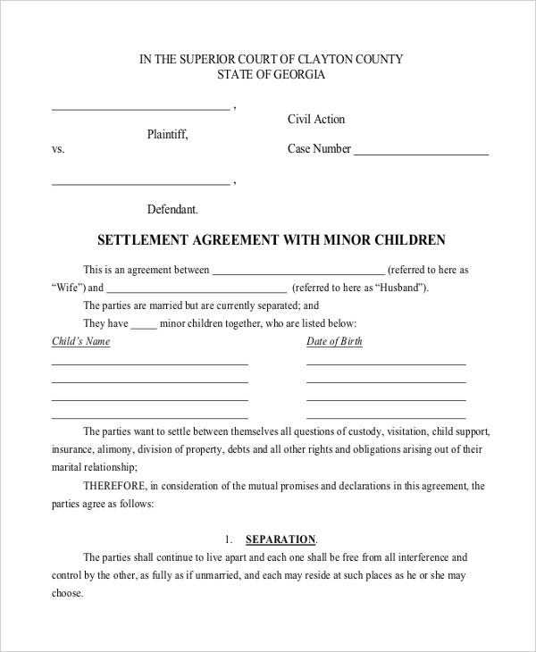 10 Child Support Agreement Templates PDF DOC Free