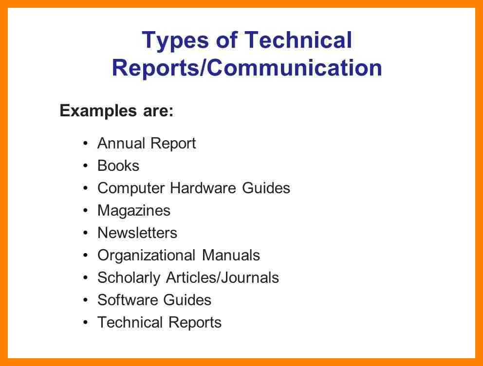 10 Technical Report Writing Examples PDF Examples