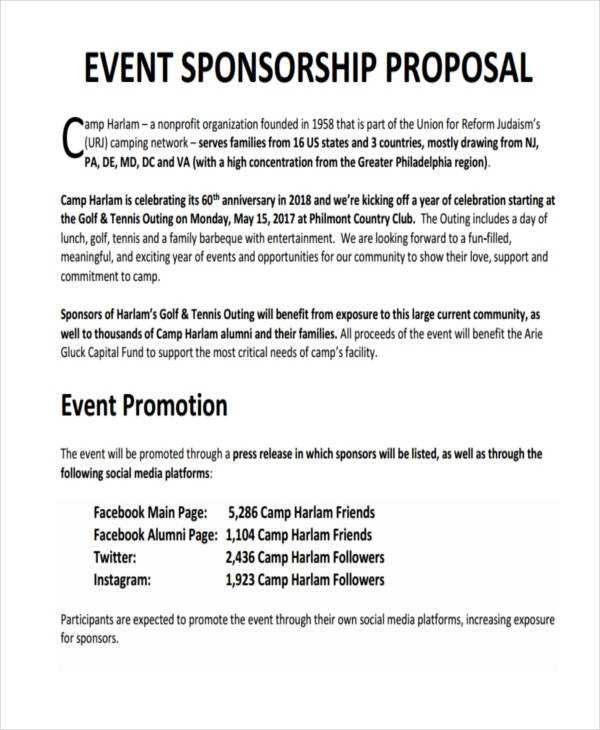 15 Sponsorship Proposal Examples In PDF Google Docs