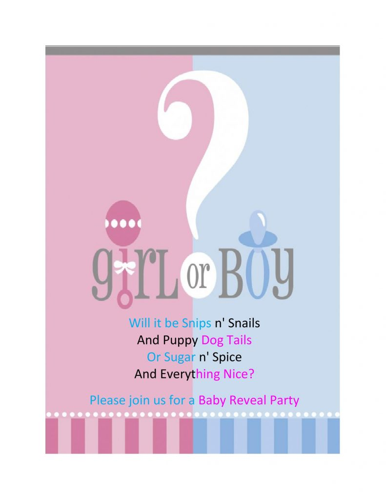 17 Free Gender Reveal Invitation Templates Template Lab