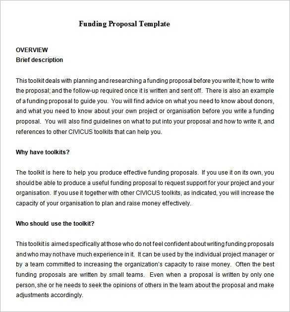 17 Funding Proposal Templates Word PDF Pages Free