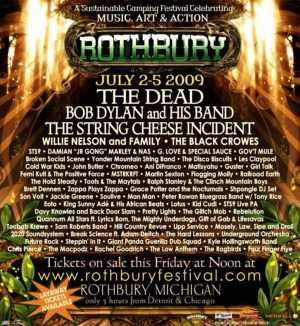 2009 Rothbury Ticket Giveaway Is Over Absolute Michigan