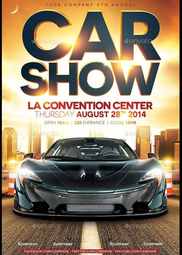26 Modern Car Show Flyer Designs Creatives AI DOCS PSD
