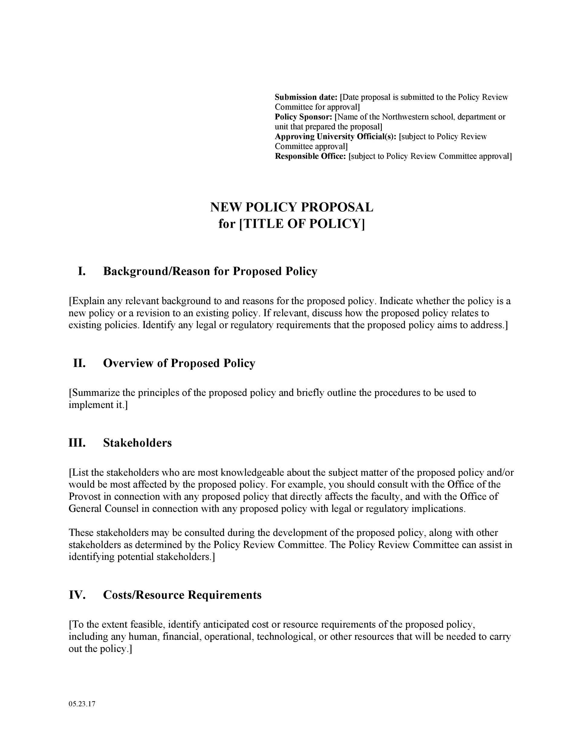 30 Professional Policy Proposal Templates Examples