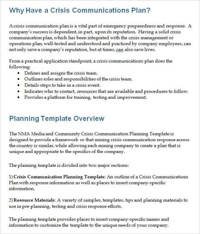 4 Crisis Communication Plan Templates DOC PDF Free