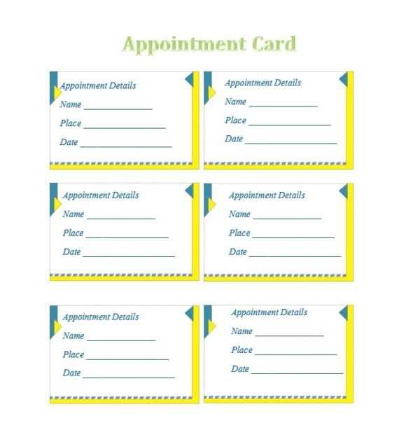 40 Appointment Cards Templates Appointment Reminders