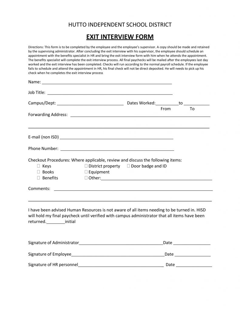 40 Best Exit Interview Templates Forms TemplateLab