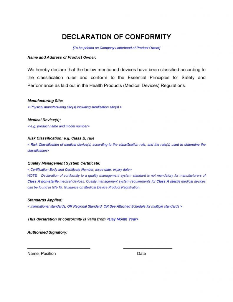 40 Free Certificate Of Conformance Templates Forms