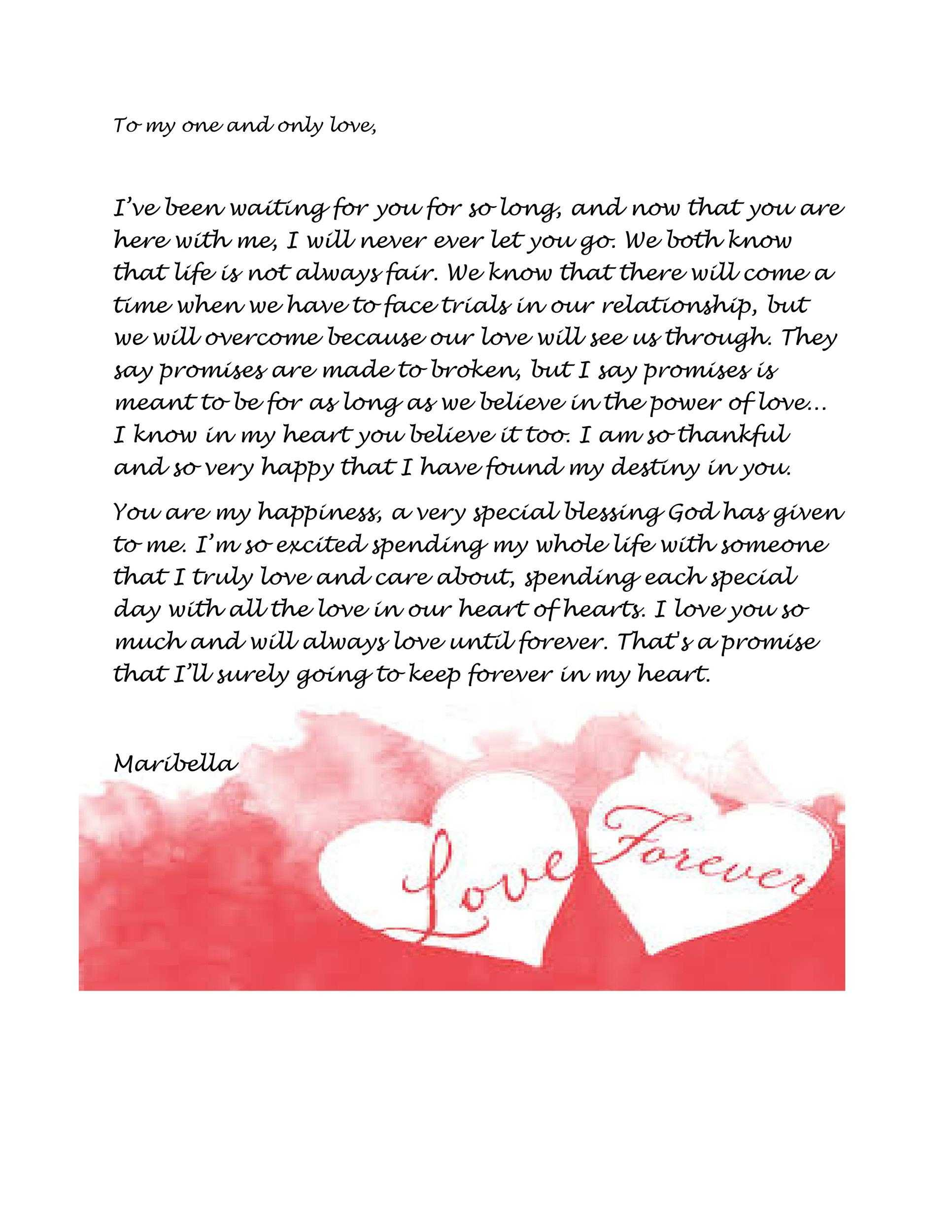 45 Romantic Love Letters For Her For Him
