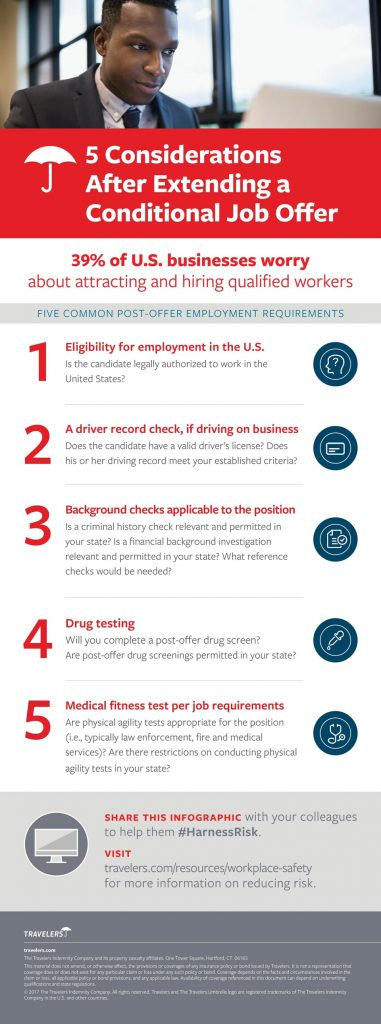 5 Considerations After Extending A Conditional Job Offer
