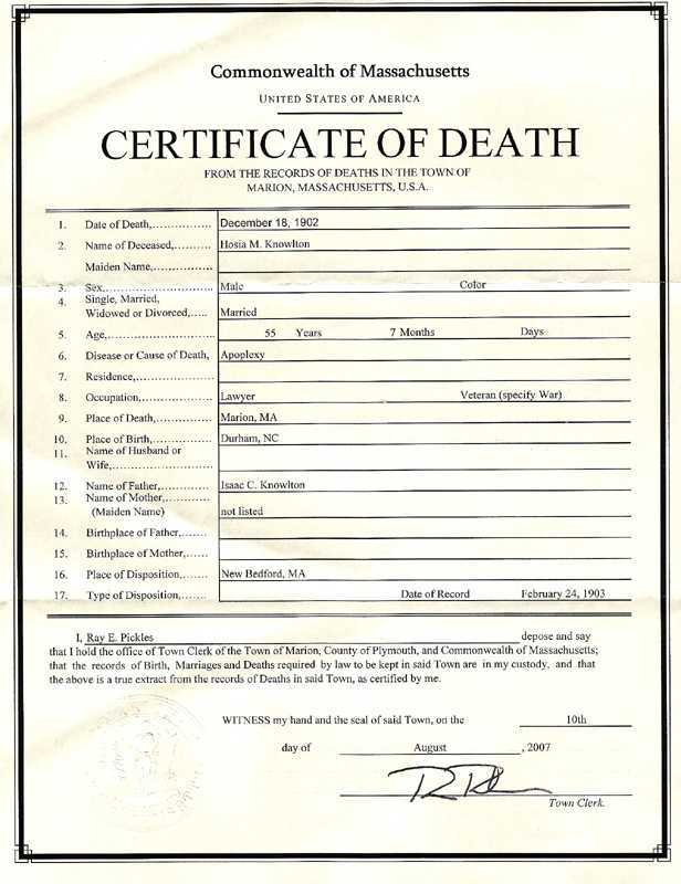 5 Printable Certificate Of Death Templates With Samples
