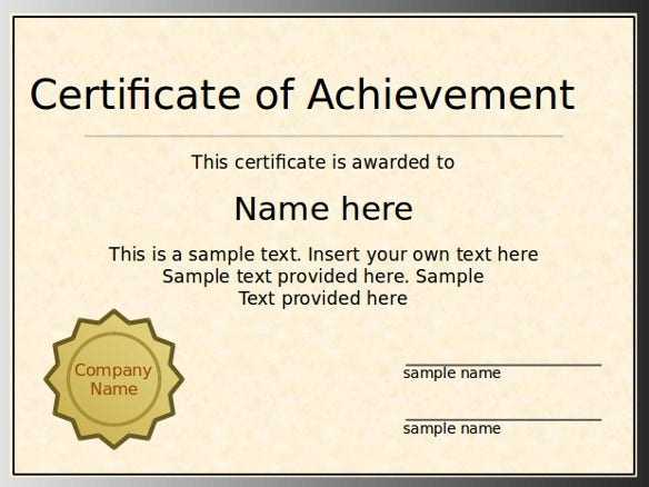 7 PowerPoint Certificate Template Free Sample Example