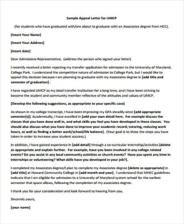 8 College Rejection Letters Free Sample Example Format