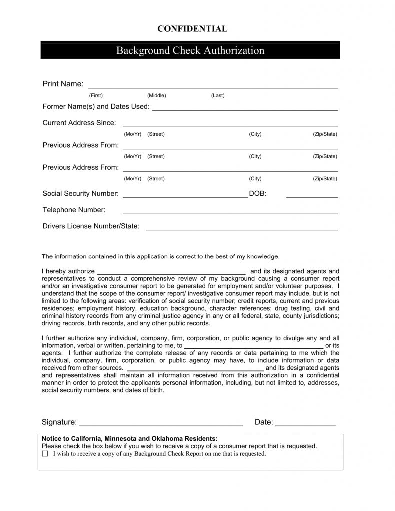 9 Background Check Form Examples PDF Examples