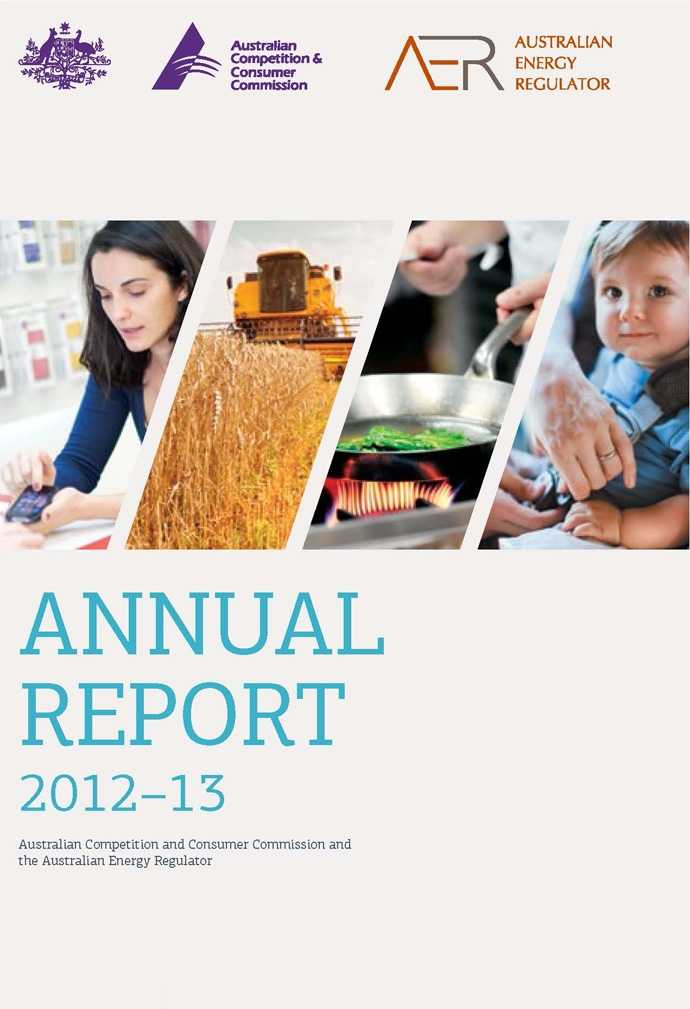ACCC AER Annual Report 2012 13 Cover Page ACCC