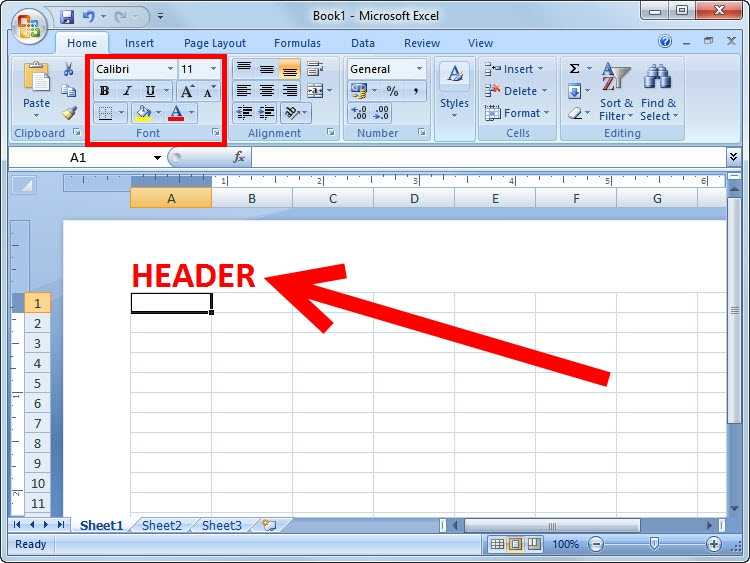 How To Add A Header Or Footer In Excel 2007 6 Steps
