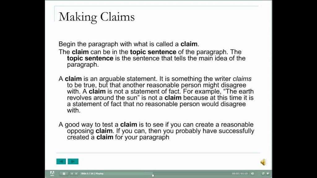 Analytical Paragraph Structure The Claim YouTube