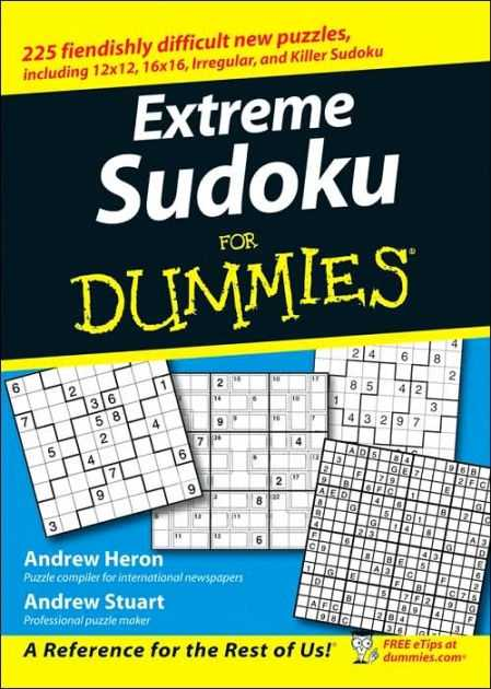 Extreme Sudoku For Dummies By Andrew Heron Andrew Stuart