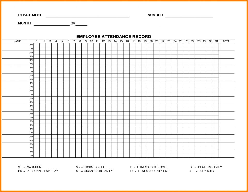 Attendance Record Template Charlotte Clergy Coalition