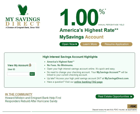 Average Rates On A Savings Accounts Guide The Top 10