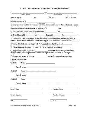 Babysitter Contract Pdf Fill Online Printable Fillable