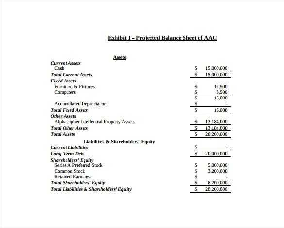 Balance Sheet Template 16 Free Sample Example Format