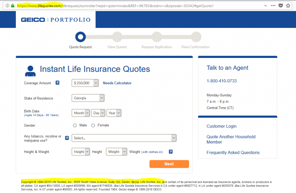 Best Life Insurance Quotes By Age Term No Exam Whole