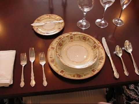 Betty s Quick Tip 86 An Example Of A Formal Place Setting