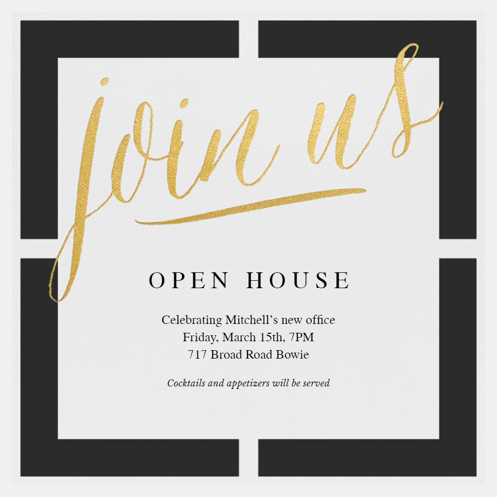 Block Party Open House Invitation Template Free