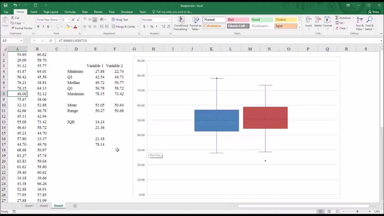 Creating A Boxplot In Excel 2016 YouTube