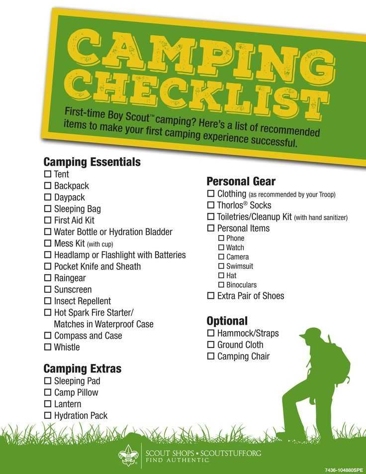 Boy Scout Summer Camping Checklist To View Further For