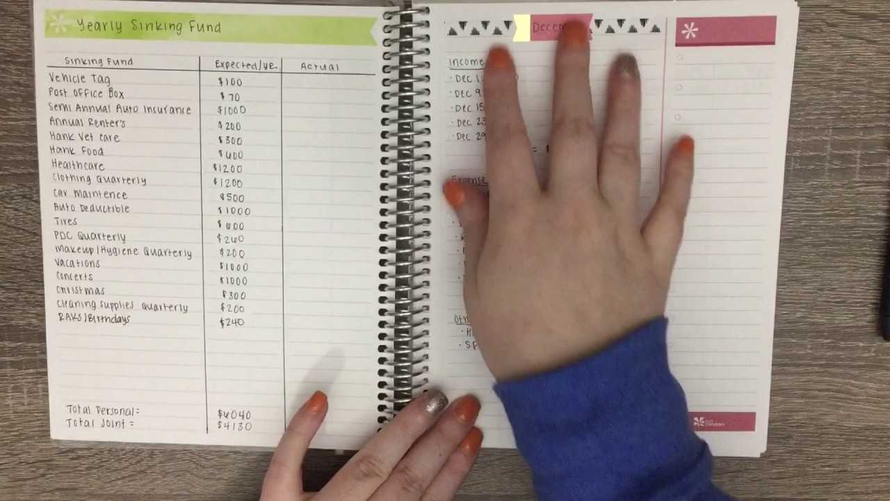 Erin Condren Budget Notebook YouTube