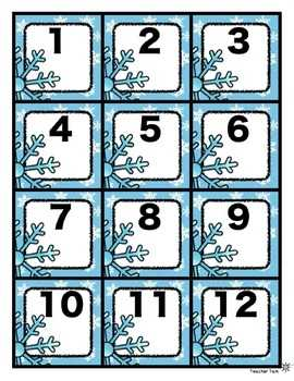 Calendar Numbers For All Year FREE Back To School