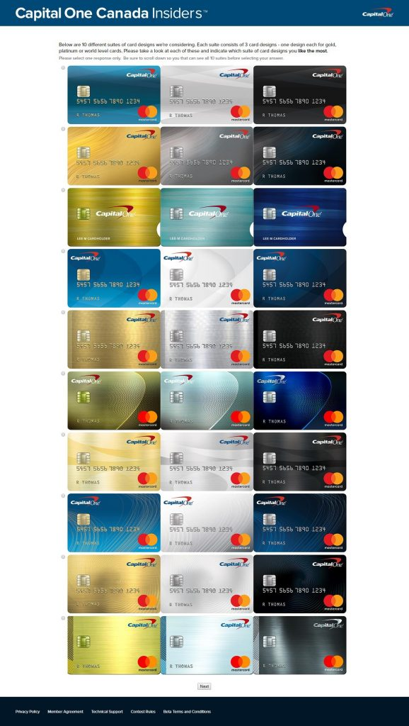 Capital One Future Card Designs RedFlagDeals Forums