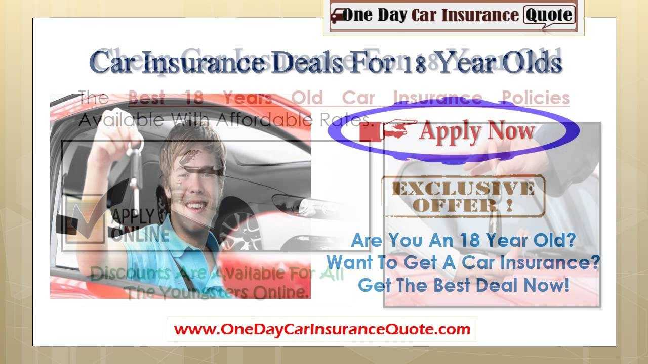 Car Insurance For An 18 Year Old YouTube