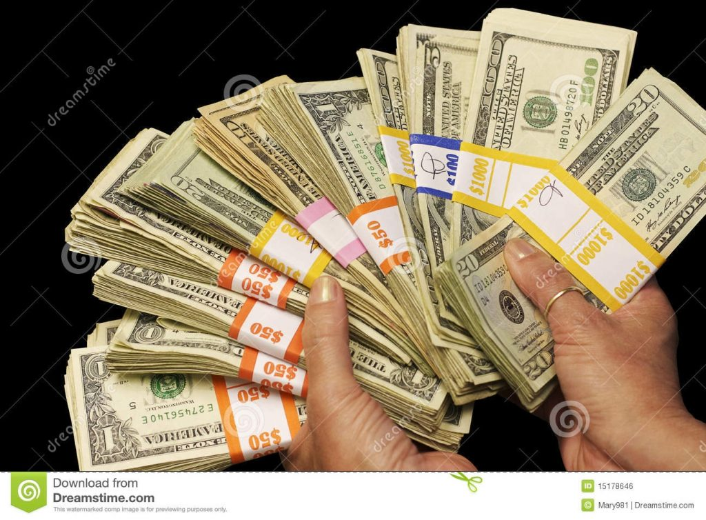 Cash In Hand Stock Photo Image Of Background Bundle