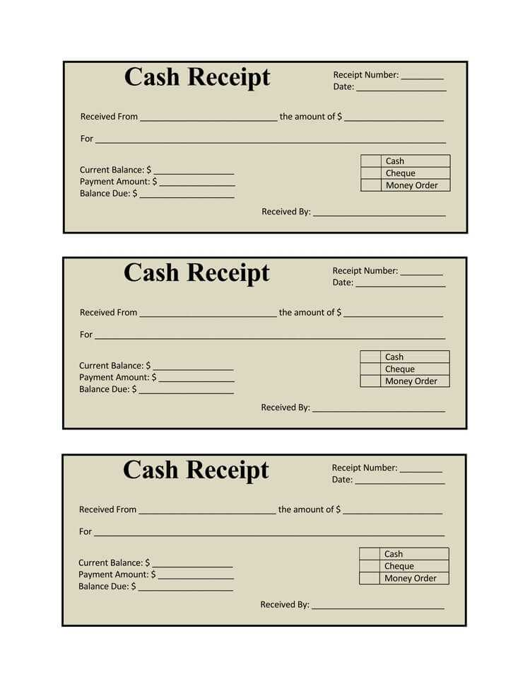 17 Free Cash Receipt Templates For Excel Word And PDF