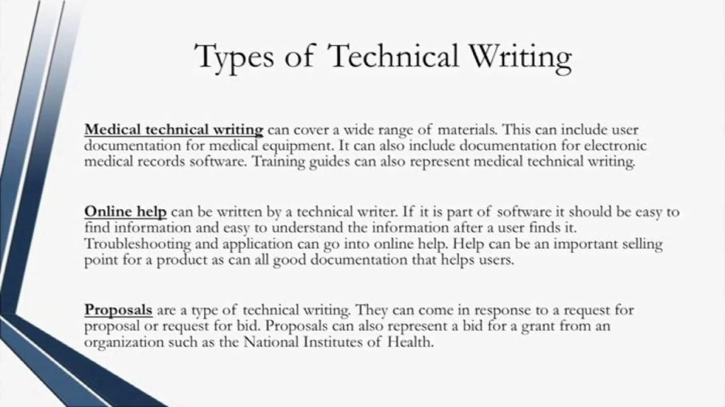 Certified Technical Writer Types Of Technical Writing