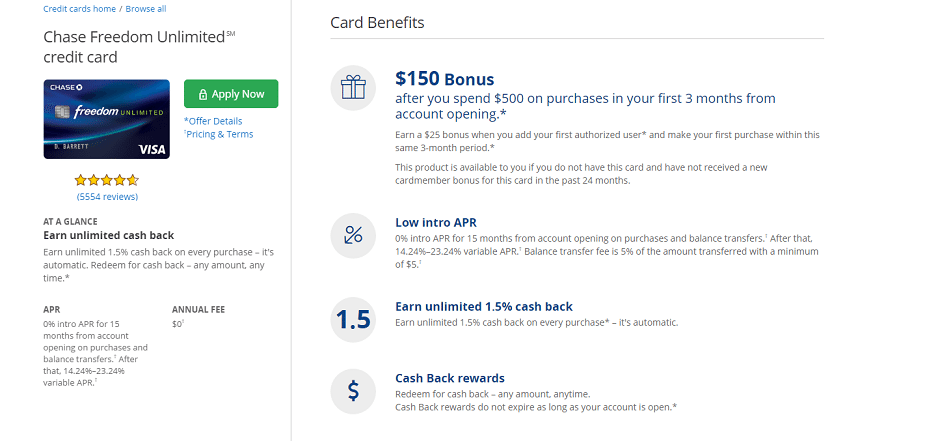 Chase Freedom Unlimited Review 17 500 Point Bonus 1 5x