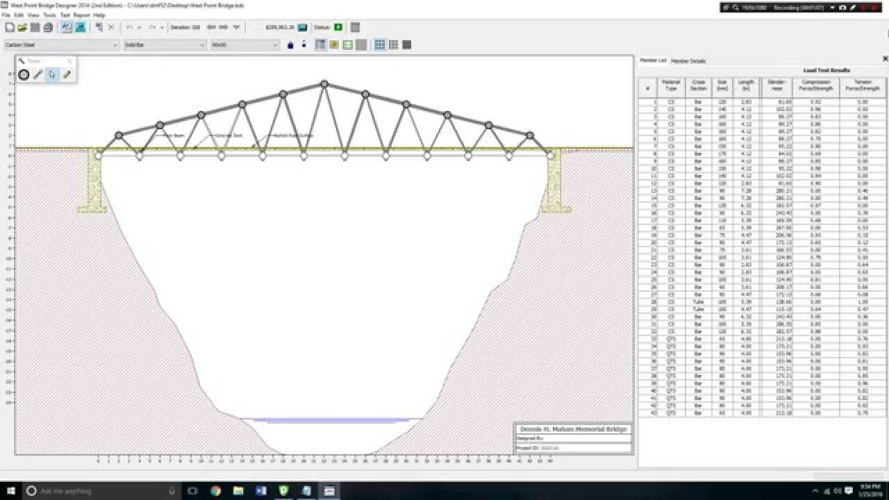 Cheapest Bridge West Point Bridge Designer 2014 2nd