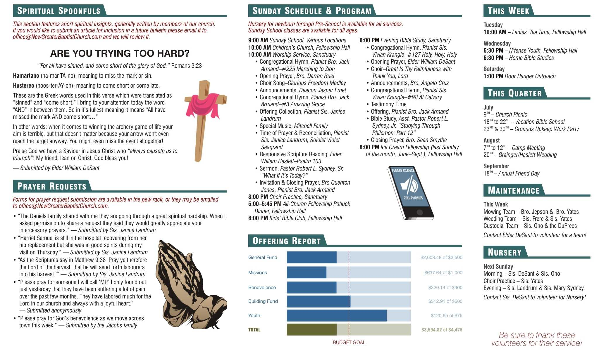 Church Bulletin How To Make Your Church Bulletin As