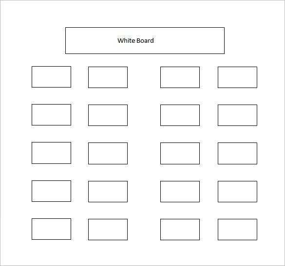 Classroom Seating Chart Template 10 Examples In PDF