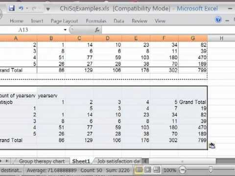 Chi sq In Excel Pt 1 Making The Contingency Table
