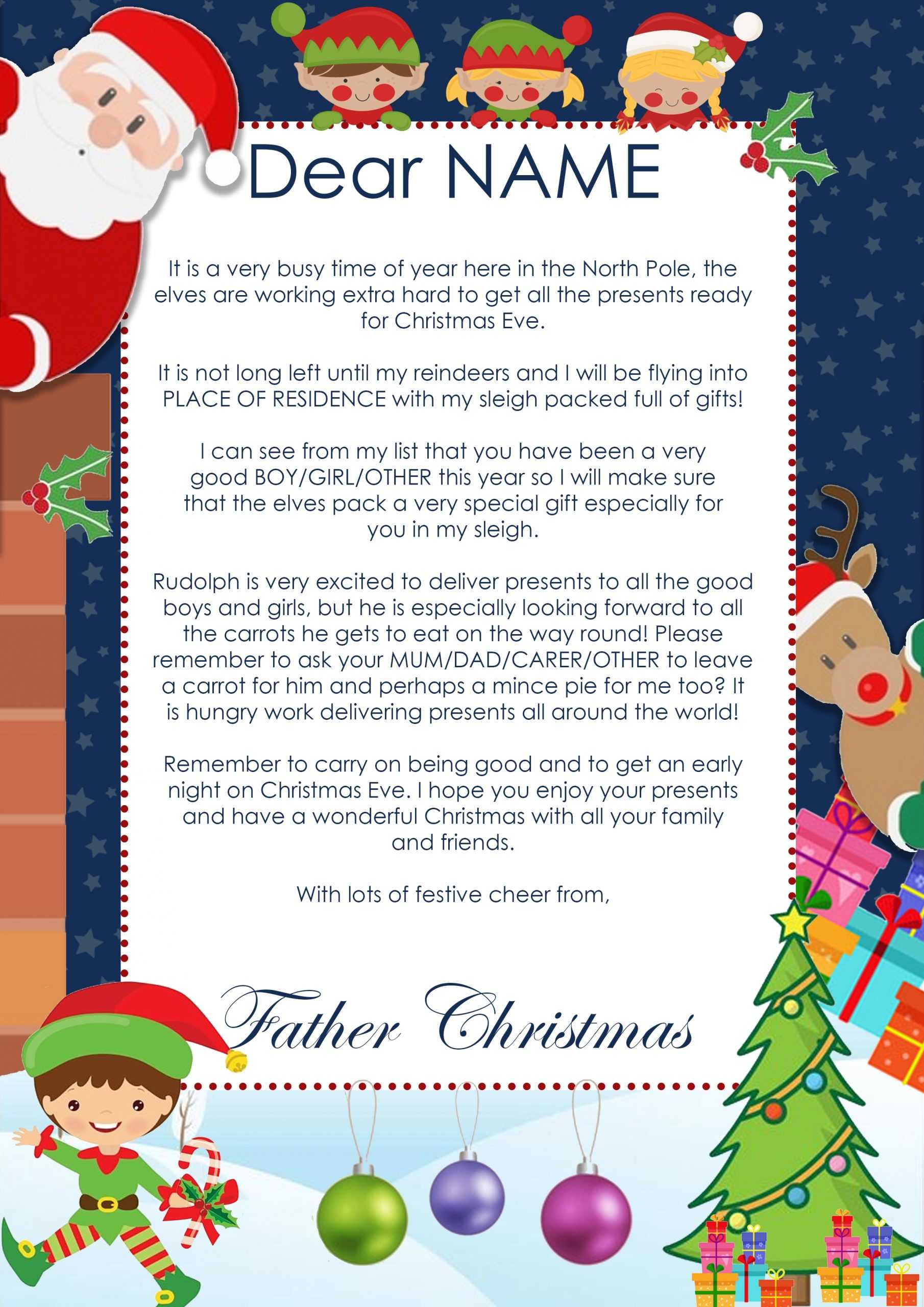 Create A Personalised Christmas Letter From Santa